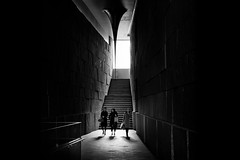 Three times a lady (Camera Freak) Tags: explore contrast bnw omotesando tokyo monochrome leica m10 50mm summilux light passage shopping architecture building stairs people walls women japanese blackandwhite bw 表参道 東京 日本 女 白黒 ライカ steps