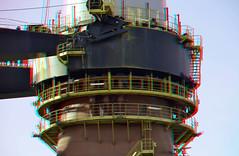 deepwater construction vessel (DCV) Aegir 3D (wim hoppenbrouwers) Tags: heerema rotterdam 3d anaglyph stereo redcyan deepwater construction vessel dcv aegir hmc huisman schiedam pijplegtoren