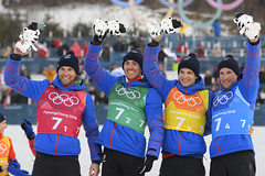 Ski de fond - Relais hommes (France Olympique) Tags: 2018 coree crosscountry fond free frenchteam gaillardjeanmarc games jeux jeuxolympiques jo korea men olympic olympicgames olympics olympiques pyeongchang relais relay ski skiing south sport sud winter coréedusud