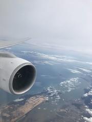 Somewhere in Vietnam (Khunpaul3) Tags: thai airways b777200er hstjt tg621 aircraft aeroplane airplane aviation boeing royal silk class avgeek window engine view