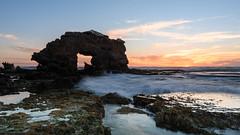 Blairgowrie : The wild side (Derek Midgley) Tags: dsc30703 blairgowrie keyhole rock evening ocean sky sea rocks