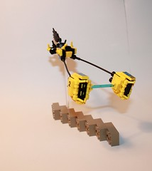 The Yellow Jacket (brick connoisseur) Tags: flying frog pod racing championship brick connoisseur brickconnoisseur moc yellow race jacket scifi lego black built stealthy star wars