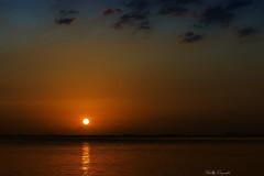 Nostaglsun...!!! (Nita_Fotos) Tags: sun sundown clouds blue orange sol atardecer nubes naranja cielo mountain montañas agua backligh contraluz lecheria venezuela tuniñasalvajedelaselva sea caribbean
