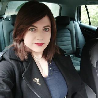 In car selfie