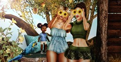 ♚ 507 ♚ (Luxury Dolls) Tags: nature natureza beauty beleza diversão fun sunflower girassol girls pose bento shisposes shis sweet fashion mmc mmcsl sintiklia hair catwa maitreya body outfit green new blog blogger style store shot partnership