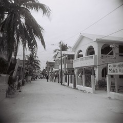 Caye Caulker, Belize (jeffreylcohen) Tags: holga film square bw blackandwhite belize cayecaulker beach tropics barrierisland