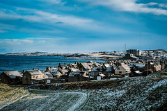 Wintry Broch (Tom McPherson) Tags: inexplore picts clavie broch doric pictish scotland local explore coastal seaside historic buildings houses sleet ice blue colour january urban rocks seascape landscape town elgin tommcpherson moray scottish harbour fishing view village frozen wintry winter snow cold burghead