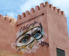 Il était une fois... (Anke knipst) Tags: marokko morocco graffiti augen eyes art kunst