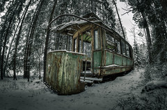 Going nowhere (mvnfotos) Tags: d7000 samyang8mmf35 abandoned rusty tram sundaylights