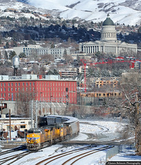 Never Attempt This at Home ;-) (jamesbelmont) Tags: railroad railway unionpacific train ge es44ah sd70m capitol saltlakecity granttower utah mscwc