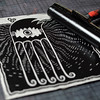 New linocut paper printing (Teratoiid) Tags: linocut linogravure teratoiid monstre monster gravure