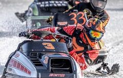 Catch Me If You Can (Wes Iversen) Tags: exciter michigan nikkor80400mm stcharles color men people reflections snow snowmobileracing snowmobiles speed sports winter