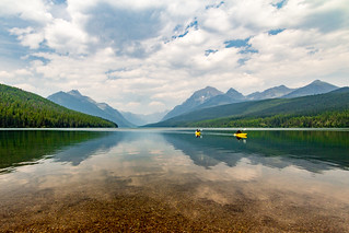 Two Afternoon Kayakers on Bowman Lake