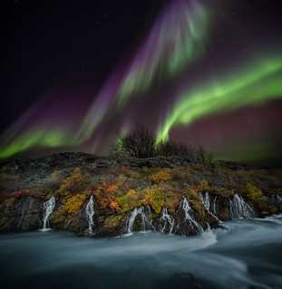 Autumn colors and aurora in Iceland