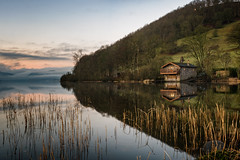 among the reeds (explore) (akh1981) Tags: landscape lakedistrict lake wideangle walking water ullswater uk cumbria outdoors sunrise mountains travel trees tranquil calm longexposure nature