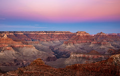 layers, earth and sky (almostsummersky) Tags: horizon rockformation wotansthrone peaks winter zoroastertemple canyon nationalpark evening overlook rocks oneillbutte southrim vishnutemple matherpoint grandcanyon clouds travel northrim twilight grandcanyonnationalpark sky arizona peak sunset cliffs dusk