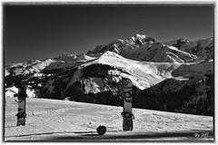 _DSC5354 copie (kadyjef) Tags: mountain snow snowboard alpes montblanc aiguilledumidi landscape paysage noiretblanc bw savoie