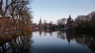 Brugge Minnewater Panorama