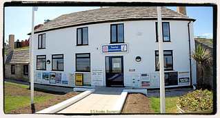 Swanage Tourist Information Centre in May 2017, The White House, Shore road, Swanage, Isle of Purbeck, Dorset. England.