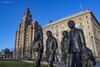 Beatles on the Waterfront. (ParrPhotography) Tags: beatles threegraces liverpool liverbuilding liverbirds statue