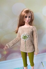 Hand-knitted sweater pullover with blowball & apple green leggings. Barbie doll clothing (uliakiev) Tags: barbie barbiedoll barbiedollclothes barbieclothes barbiesweater barbiecollector barbiecollection barbiefan barbiefashion barbieclothing barbiedolls barbiestyle barbiestream barbiecrochet barbieknit dollclothes dollsweater dollknitting