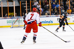 "Kansas City Mavericks vs. Allen Americans, February 24, 2018, Silverstein Eye Centers Arena, Independence, Missouri.  Photo: © John Howe / Howe Creative Photography, all rights reserved 2018 • <a style=""font-size:0.8em;"" href=""http://www.flickr.com/photos/134016632@N02/25629927047/"" target=""_blank"">View on Flickr</a>"
