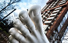 Snow Shoes (DobingDesign) Tags: sculpture simonfujiwara modernmarriage foot white sculpted london toes smooth anatomical proportional architecture streetart streetsculpture