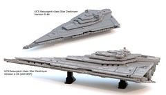 UCS Resurgent-class Star Destroyer (Commander Cloverleaf) Tags: star space ship starcraft sternenzerstörer spaceship ucs cruiser first order destroyer stardestroyer starship resurgent class battle microscopia
