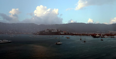 Charlotte Amalie, St. Thomas Harbor (Gail Frederick) Tags: caribbean stthomas clouds harbour water