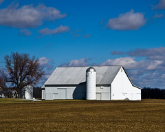 White Barn & Silo (ramseybuckeye) Tags: mercer county ohio farm rural fields barn silo