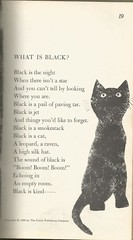 What is Black (912greens) Tags: cats colors black poems poetry childrens books illustrations 1960 hailstonesandhalibutbones