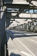 stripes (flyerkat_L.E.) Tags: stripes light shadow bridge hamburg film analog agfavista200 nikon fm2 35mm