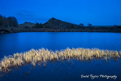 Blue and Gold (dtaylorphotography) Tags: blue britain british cawfields cloud color colour countryside dolerite dolorite dusk england environment evening greatbritain hadrianswallcountry horizontal igneous landmark landscape nationalpark night noone northeast northumberland northumbria outdoors panoramic quarry reflection rock rural symmetrical symmetry uk unitedkingdom water whinsill winter