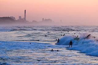 Surfing at sunset -Tel-Aviv beach - Follow me on Instagram:  @lior_leibler22
