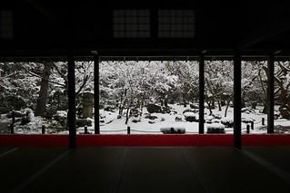 Winter Silence -The Garden of Ten Bulls / Kyoto Enko--ji Temple 京都 圓光寺 十牛の庭
