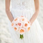 Wedding Bouquets : Bold round bouquet of peach Juliette Roses: www.stylemepretty... thumbnail