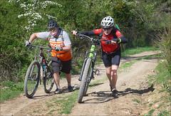 Phew! That's Steep! (kate willmer) Tags: people bicycle bike biking mountainbike mtb trail helmet