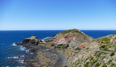 The way down... (The Pocket Rocket, On and Off.) Tags: steps capeschanck bassstrait victoria australia rocks basalt