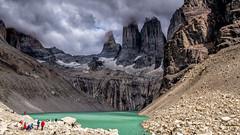 Torres del Paine - clouds & sun (PeterLademann https://ladpeter.wordpress.com) Tags: chile day8chilenotomiradorlastorresreturntocampamentolast gh2 nptorresdelpaine patagonia thew regióndemagallanesydelaantárticachilena cl torresdelpaine