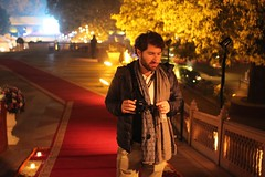Peter serious on the red carpet (olive witch) Tags: 2018 abeerhoque india jaipur jan18 january jlf jlf18 male night outdoors
