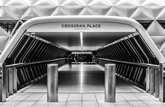 Crossrail Place (Blende1.8) Tags: docklands london crossrailplace urban street architecture architektur modern contemporary symmetry symmetrie pipe tube tunnel röhre tunnelblick people perspective uk city stadtlandschaft cityscape carstenheyer nikon d5500 18140mm