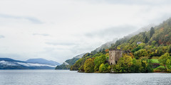 Grant Tower, Urquhart Castle, Loch Ness (Tony Steinberg Photography) Tags: photograph copyrightâ©2013arsteinbergallrightsreserved photography panorama panoramic fineartphotography landscapephotography colourimage colorimage colour blue green abandoned derelict tourism famous touristattraction travel beautiful peaceful scenic serene tranquil getaway image photo scene uk scotland scottishhighlands invernessshire drumnadrochit lochness urquhartcastle manmade architecture structure building castle quiet nature tree flora countryside mountain horizon clouds waterscape shore water lake loch distant outdoors outside rectangle 20x10 middleages medieval
