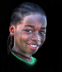 To Be Young Gifted and Black (daystar297) Tags: streetportrait portrait closeup headshot black africanamerican boy kid child beautiful smile braids hair nikon face people