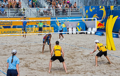 Match 57: Round of 16: USA vs. Germany (cmfgu) Tags: craigfildesfineartamericacom fédérationinternationaledevolleyball internationalfederationofvolleyball fivb swatchfivbbeachvolleyballmajorseries worldtour fortlauderdale ftlauderdale browardcounty florida fl usa unitedstatesofamerica beach volleyball tournament professional sun sand tan athlete athletics ball net court set match game sports outdoors ocean palmtrees men ger germany deutschland phildalhausser goldmedalist nicklucena olympian markusbockermann markusböckermann larsfluggen larsflüggen