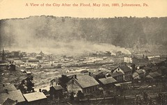 A View of the City After The Flood -Johnstown, Pennsylvania (The Cardboard America Archives) Tags: 1889 johnstown flood disaster cityinruins postcard pennsylvania vintage