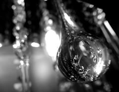 Drops of Light (TejaO) Tags: bw blackandwhite lights lighting lightplay crystal drops glassdrops