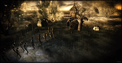 Lost On the River (Forever's A Long, Long Time) (Akim Alonzo) Tags: secondlife scene river mystical fae forest lost