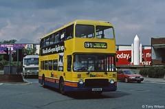 GGM 89W First Beeline 539 Bristol VR with Eastern Counties body at Heathrow Airport June97 (Copy) (focus- transport) Tags: first group barbie manchester pennine calderline kelvin badgerline bath bristol bradford southern national beeline smt edinburgh grampian leeds greater glasgow lowland york quickstep travel leyland olympian atlantean tiger vr mcw metrobus dennis dart slf mercedesbenz 0405 volvo b10b alexander q royale strider cityranger scania n113crl l113crl northern counties paladin palatine i caetano east lancs plaxton derwent pointer ecw eastern coachworks optare prisma wright wrightbus handybus axcess endurance