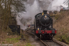 4277 - Leaving Froghall (davidcable347) Tags: 4277 churchward 7f churnetvalley 30742charters 280t froghall