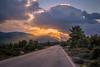 Driving to heaven (Vagelis Pikoulas) Tags: sun sunset rays sunrays sky skyscape clouds cloudy cloud cloudscape porto germeno vilia greece winter january 2018 canon 6d tokina 2470mm view road landscape nature